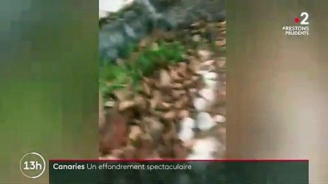 Canaries : un impressionnant pan de falaise s'est écroulé, sans faire de blessés