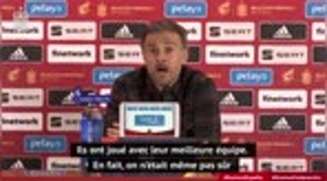 """Espagne - Enrique : """"L'Allemagne avait son meilleur 11, on n'a pas un seul 11 fixe, c'est un plus"""""""