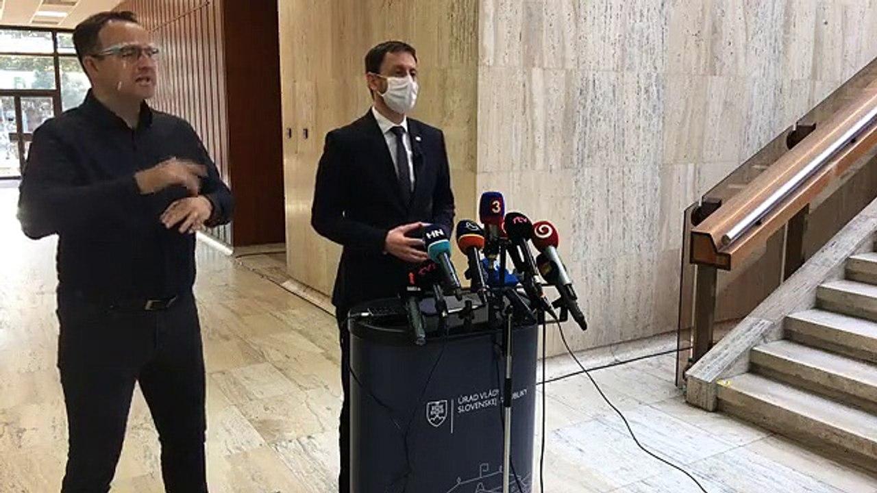 ZÁZNAM: Brífing ministra financií E. Hegera