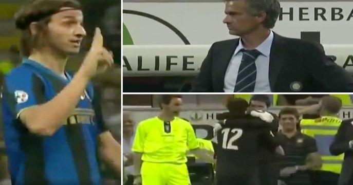 La réaction géniale de Mourinho quand Zlatan lui a demandé de le remplacer