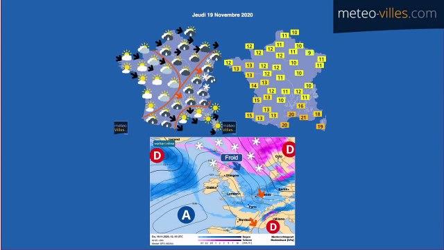 bulletin meteo de mercredi 18 novembre 2020