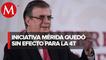 Iniciativa Mérida ya quedó sin efecto: SRE