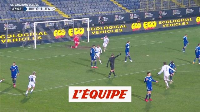 Les buts de Bosnie-Herzégovine - Italie - Foot - Ligue des nations