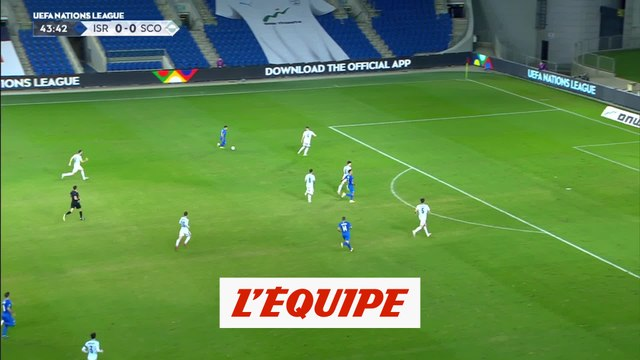 Le but de Israël-Ecosse - Foot - Ligue des nations