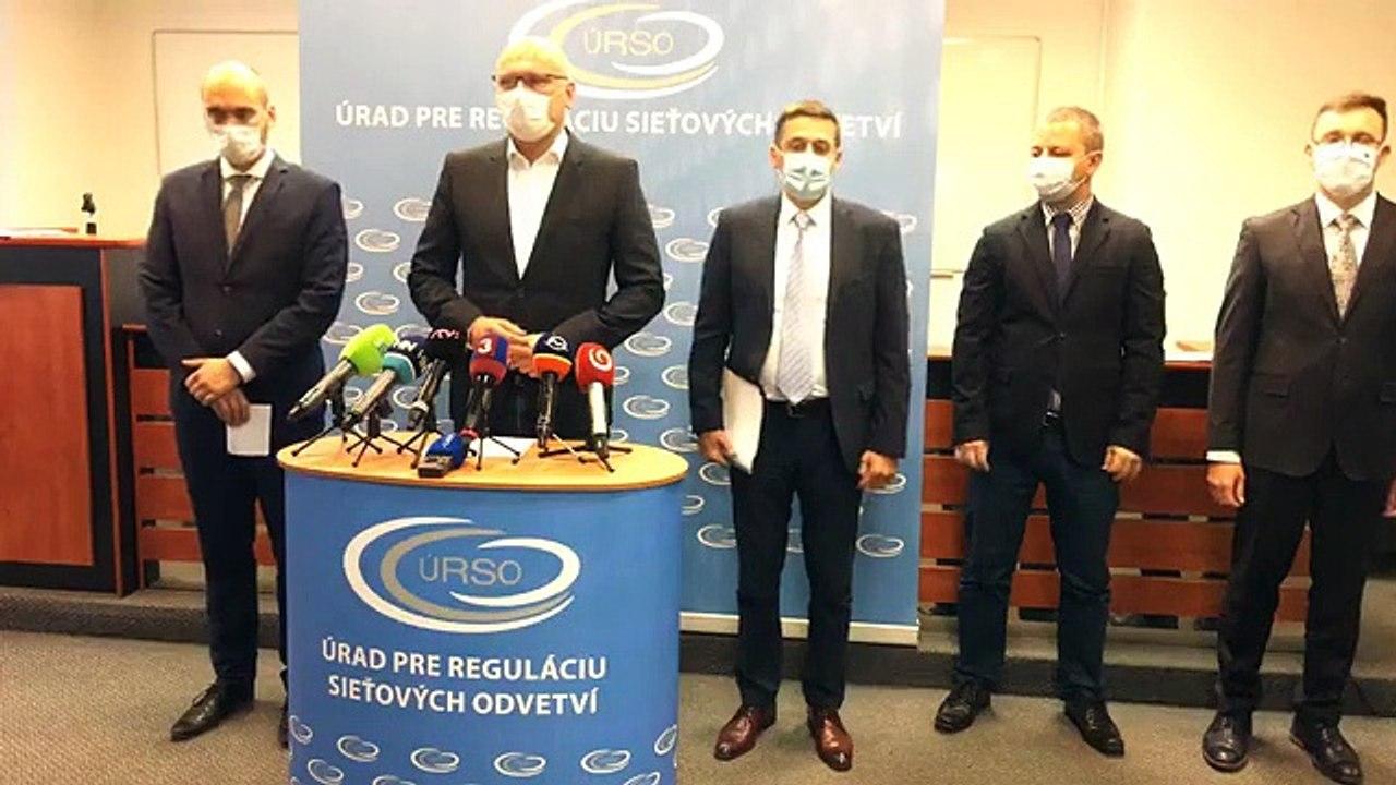 ZÁZNAM: TK ministra hospodárstva SR Richarda Sulíka a predsedu ÚRSO Andreja Jurisa