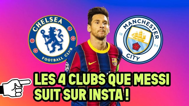 Quels sont les 4 clubs que Leo Messi follow sur Instagram ? | Oh My Goal