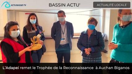 Bassin Actu ' L'Adapei remet le Trophée de la Reconnaissance  à Auchan Biganos