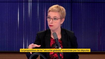 """Proposition de loi """"sécurité globale"""" : """"Elle vise en réalité à intimider celles et ceux qui voudraient filmer et à donner davantage de pouvoir aux policiers """", affirme Clémentine Autain, députée La France insoumise"""