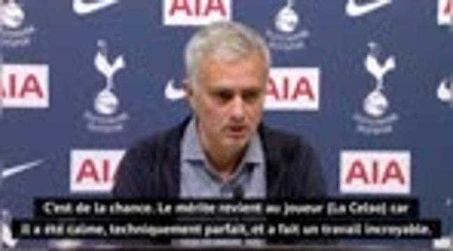 """9e j. - Mourinho : """"Ndombele a fait un boulot fantastique, Lo Celso a fait la même chose"""""""