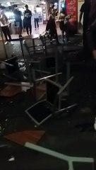 Coche se estrella contra terraza en la Avenida de Anaga