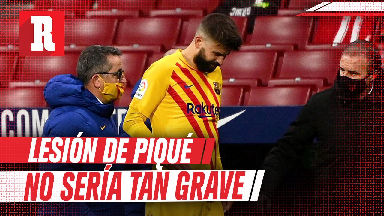 Lesión de Piqué no sería tan grave, aseguro presidente de la junta del Barca
