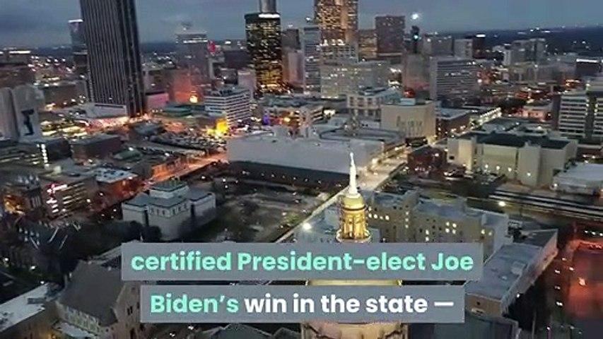 Georgia certifies Joe Biden's win by 12587 votes after hand recount