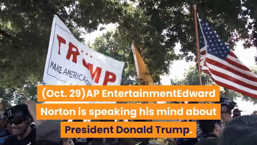 Edward Norton unloads on Trump in lengthy poker metaphor 'Call His