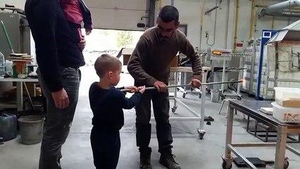 Ilyan making Glass