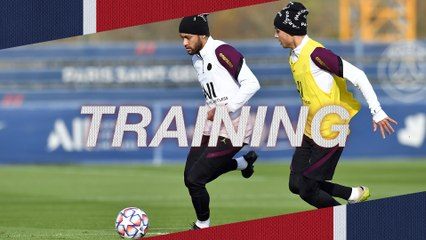 Replay : L'entraînement de veille de Champions League : Paris Saint-Germain - RB Leipzig
