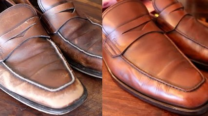 How $700 Ferragamo loafers are professionally restored