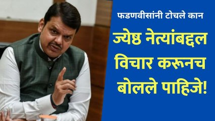 """Devendra Fadanvis says """"we must use words carefully for senior leader"""""""