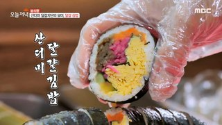 [HOT] Big egg kimbap rolled with great generosity!, 생방송 오늘 저녁 20201124