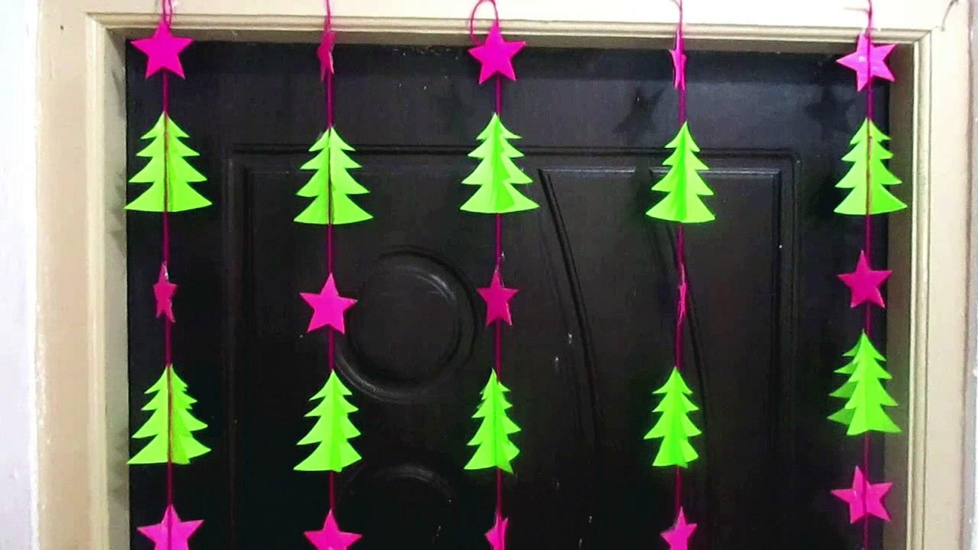 Easy Christmas Tree Door/Wall Hanging | Christmas Decorations Ideas | Christmas Tree Craft Ideas | C