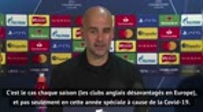 """Groupe C - Guardiola : """"Chaque saison, les clubs anglais sont désavantagés"""""""