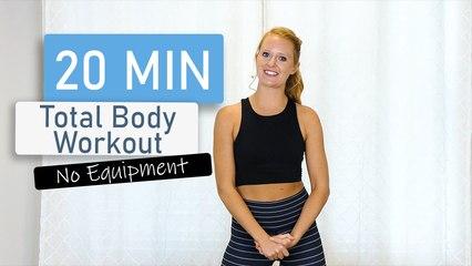 20-Minute Total Body   No Equipment   Workout (Pilates, Yoga, Ballet)
