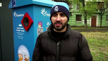 In Kyiv, you can feed stray animals by recycling