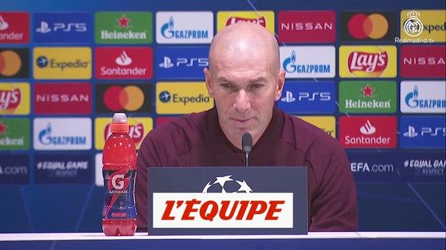 Zidane : « Ce n'est pas un match à risque » - Foot - C1 - Real