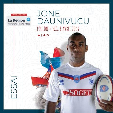 Rugby : Video - L'essai de Jone Daunivucu à Toulon, saison 2007-2008