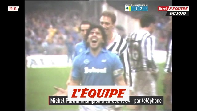 Platini évoque Maradona - Foot - Décès de Maradona