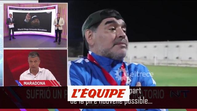 L'annonce de son décès à la télévision argentine. - Foot - Maradona