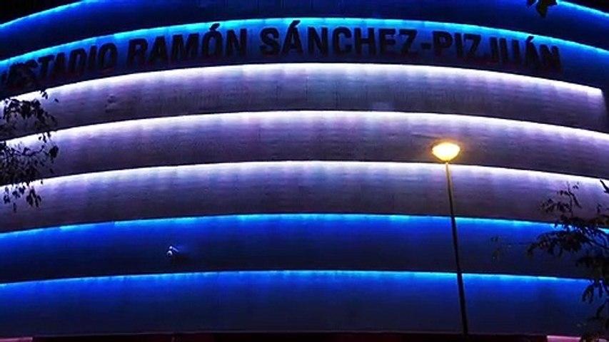 El Sánchez-Pizjuán se ilumina en homenaje a Maradona