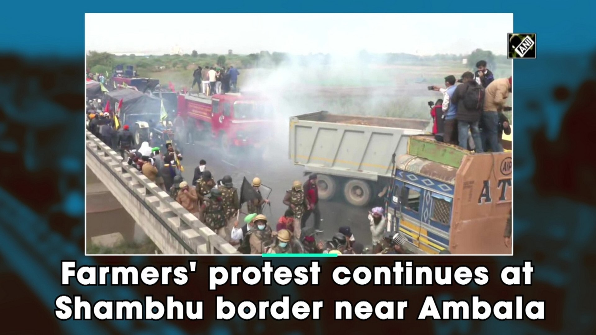 Farmers' protest continues at Shambhu border near Ambala