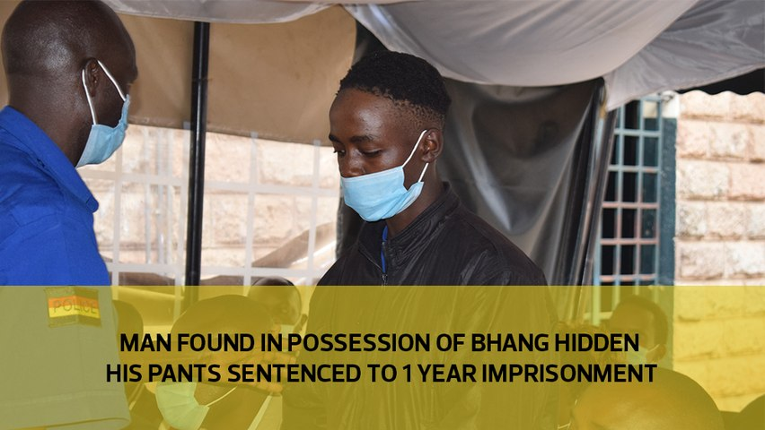 Man found in possession of bhang hidden under his pants sentenced to 1 year imprisonment