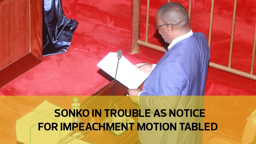 Sonko in trouble as notice for impeachment motion tabled