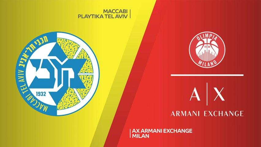 Maccabi Playtika Tel Aviv - AX Armani Exchange Milan Highlights | Turkish Airlines EuroLeague, RS Round 11