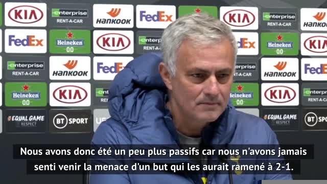 """Groupe J - Mourinho : """"Une très bonne première période"""""""