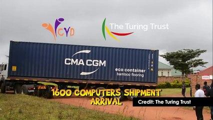 Computers arrive at CYD, Mzuzu, Malawi. July 2020