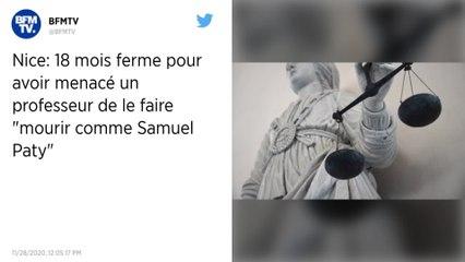 """Nice: 18 mois ferme pour avoir menacé un professeur de le faire """"mourir comme Samuel Paty"""""""