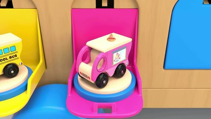 Learn Colors with Toy Street Vehicles Parking - Colors Collection