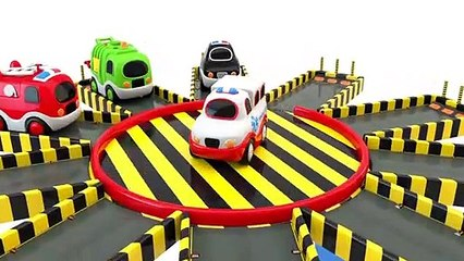 Learn Colors with Toy Street Vehicles Parking - Toy Cars for KIDS