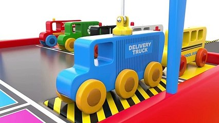 Learn Colors with Wooden Street Vehicles Toys - Colors Collection