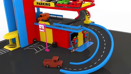 Colors for Children to Learn with Toy Street Vehicles - Colors Collection