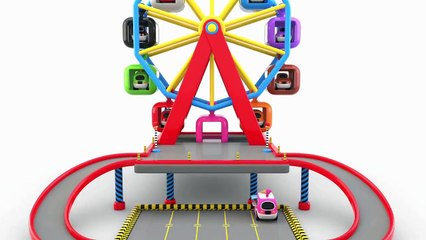 Learn Colors with Toy Ferris Wheel Street Vehicles Parking - Colors Videos for Children