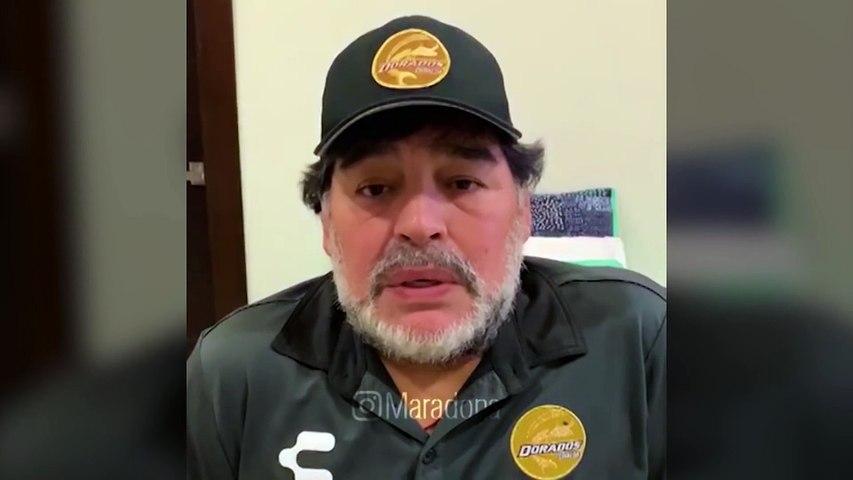Mensaje de Maradona al hijo de Toresani