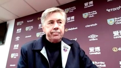 Carlo Ancelotti disappointed with Burnley draw 1:1