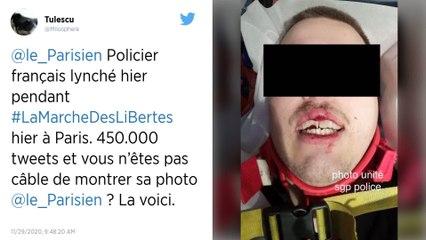 """Manifestation contre la loi """"sécurité globale"""" : un policier lynché à Paris"""