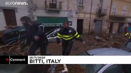 Huge mudslide engulfs Sardinia town of Bitti
