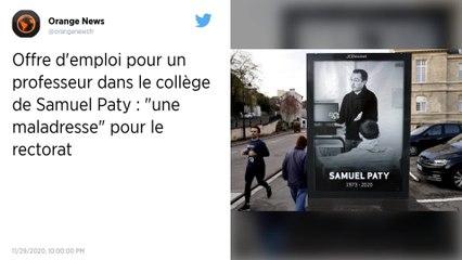 """Offre d'emploi pour un professeur dans le collège de Samuel Paty : """"une maladresse"""" pour le rectorat"""