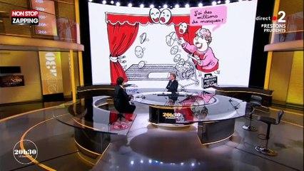 20H30 le dimanche : Roselyne Bachelot réagit avec humour à sa caricature (vidéo)