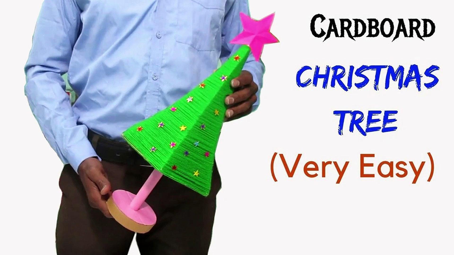 DIY Christmas Tree Using Cardboard   How to Make Christmas Tree   Cardboard Christmas Tree   Christm